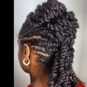 Natural Hair Style Inspired By Fusions of Culture