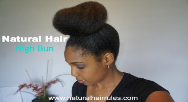 Natural Hair High Bun