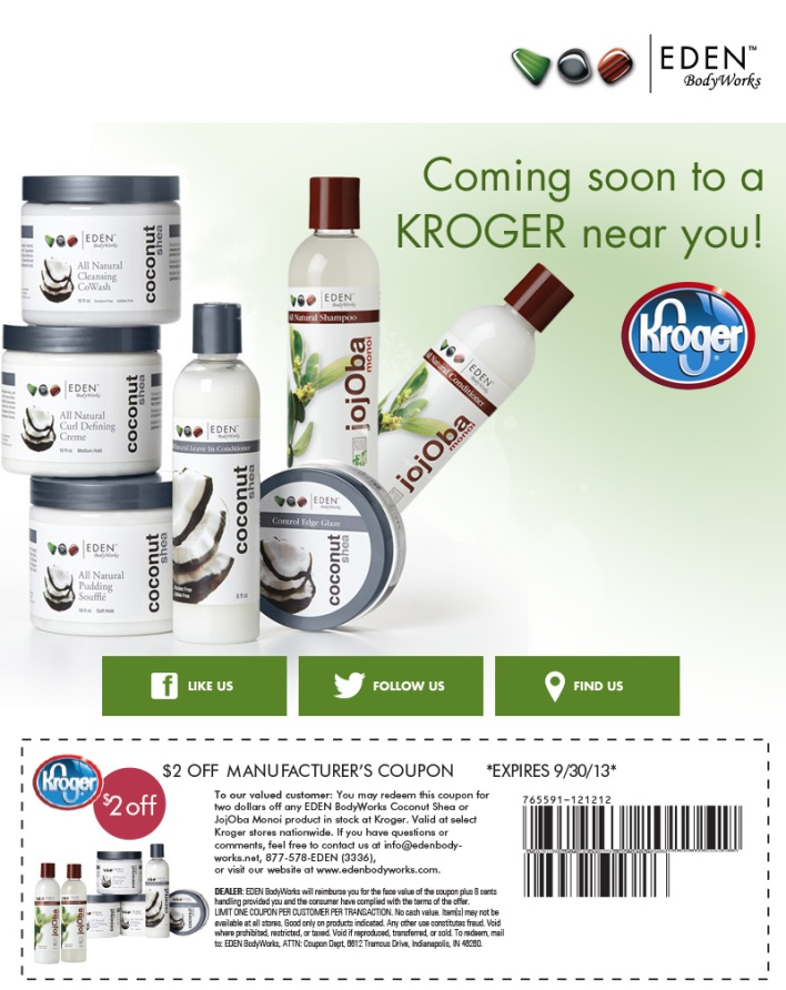 Eden BodyWorks Avaliable at Krogers