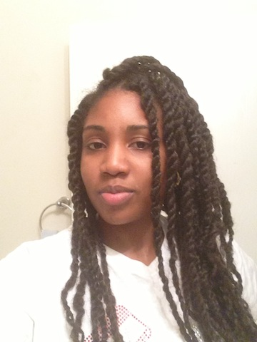The second time I ever did Marley Twists. Mission Accomplished. Told you it gets better with practice.