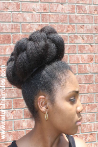 Natural Hair Top Knot