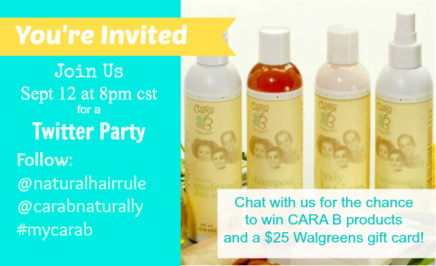 Natural Hair Rules & CaraB Naturally Twitter Party