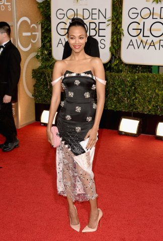 "Sleek was the ""look"" for natural hair at the 2014 Golden Globes"