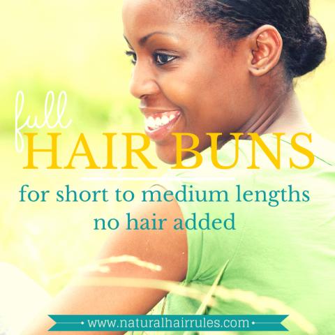 hair-buns-for-short-natural-hair